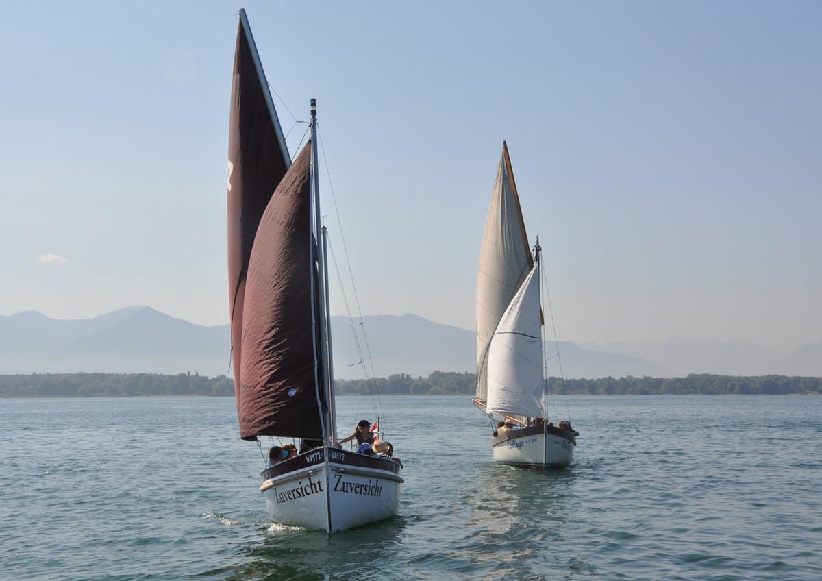 """Unsere 2 Jugendwanderkutter """"Zuversicht"""" und """"Courage"""" segeln auf dem Bodensee"""